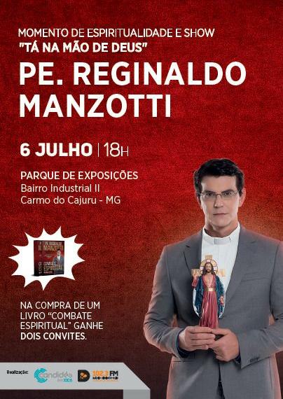 Pe. Reginaldo Manzotti visita Carmo do Cajuru no próximo mês; confira