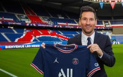 PSG anuncia a contratação de Lionel Messi