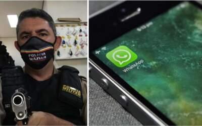 Bandido tenta aplicar golpe de WhatsApp em policial e se dá mal