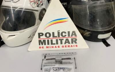 Três adolescentes são detidos com moto furtada